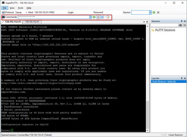 Multi tabbed, multi execution telnet/ssh client - NIL
