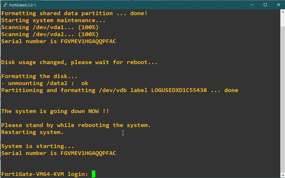 Running Fortigate FW VM inside of GNS3 - NIL - Network