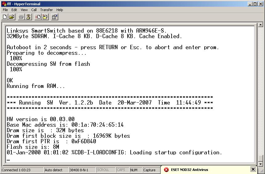 Cisco-Linksys SRW 248G4 - system firmware recovery - NIL