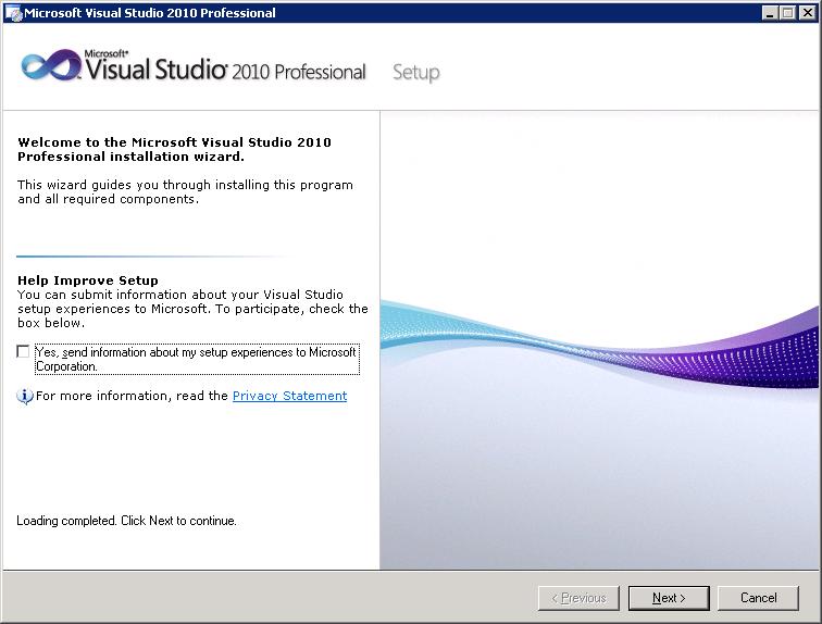 Inštalácia Microsoft Visual Studio 2010 Professional - NIL