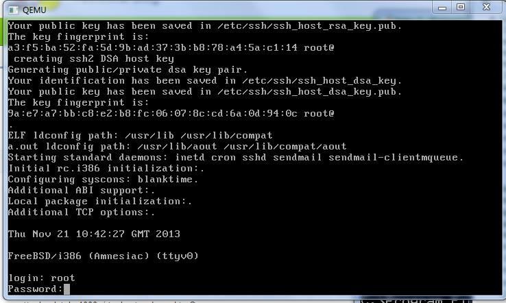 Making qemu JunOS router installing JunOS 9 6 DOMESTIC
