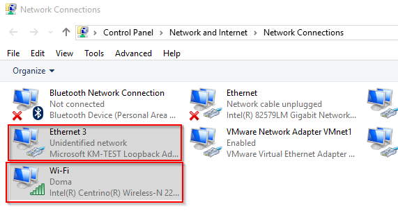 How to setup a network bridge between a notebook wifi
